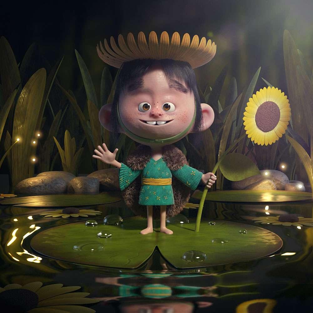 Створення «Принца Соняшника» від Jonas Schlengman