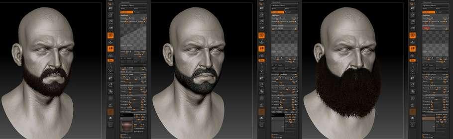 Як створити вуса і бороду з допомогою FiberMesh