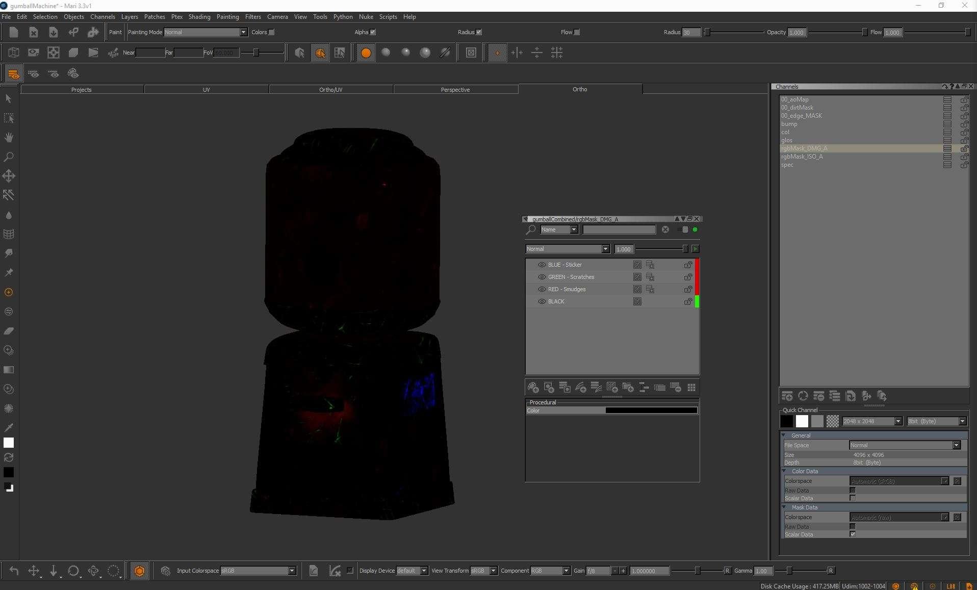 Використання RGB масок при текстурировании