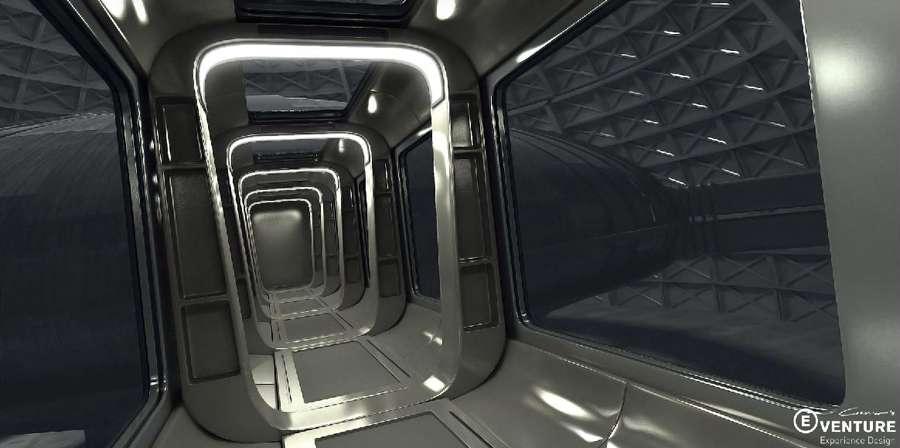 Концепт-арт Sci-fi hallway