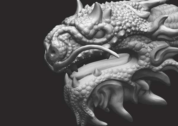 Як створити луску дракона