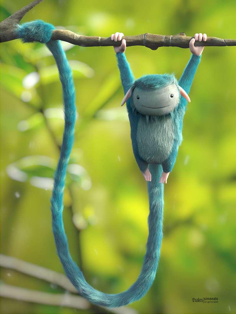 Making of Blue Monkey