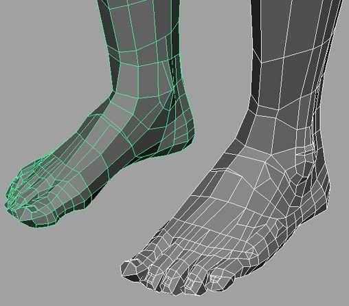 Моделювання ноги в Maya