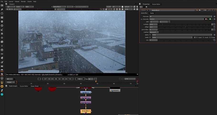 Зима близько або як зробити снігопад в Maya і Nuke