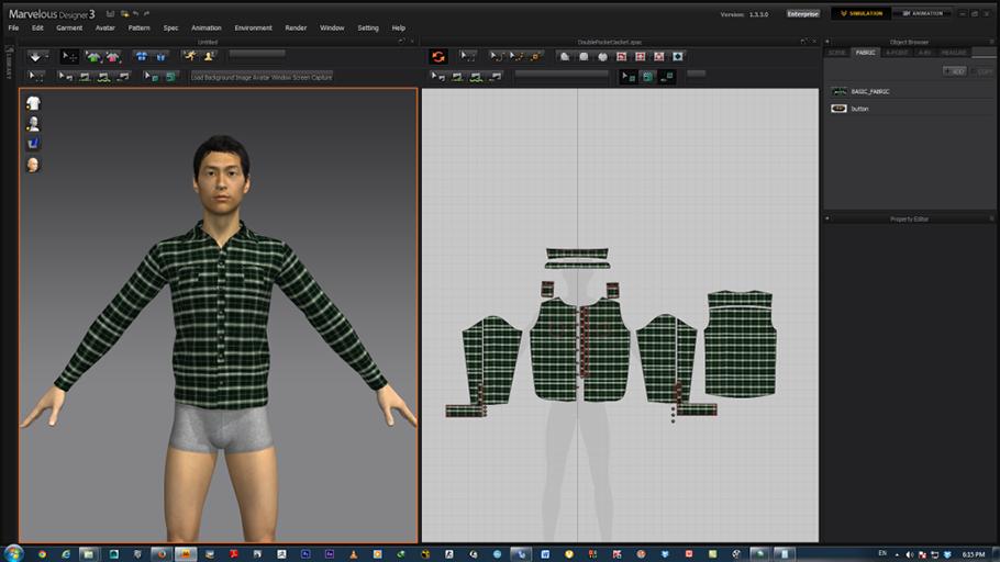 Чоловіча сорочка в Marvelous Designer 3