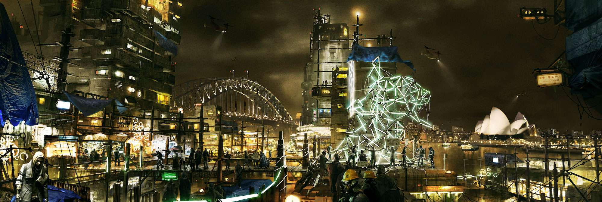 Concept art Deus Ex: Cities 2029