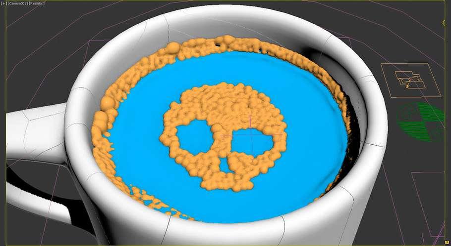 Створення і анімація кавової пінки