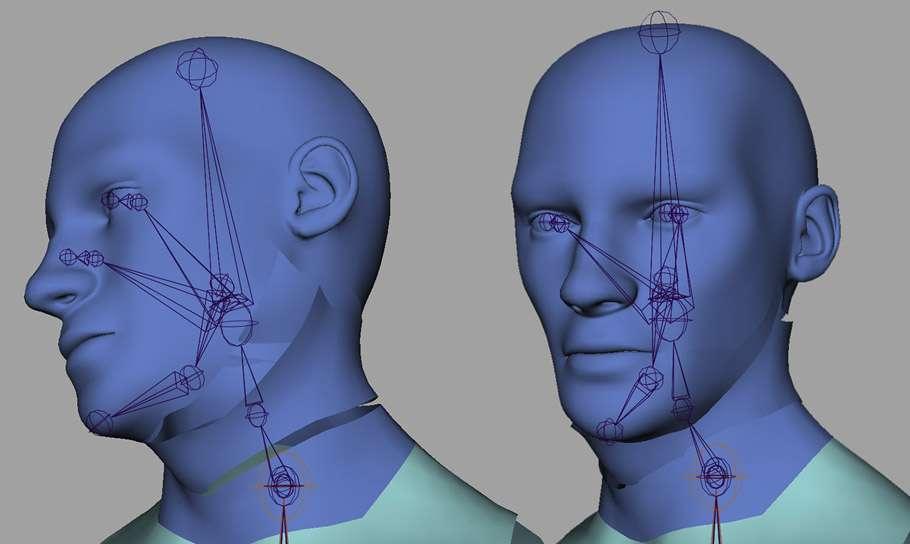 Рігг в Maya: Введення в рігг голови та шиї людини