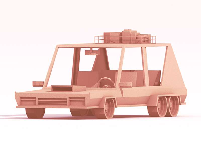 Low-poly машинки від Timothy Reynolds