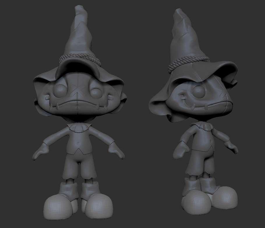 Making of персонажа Scarecrow