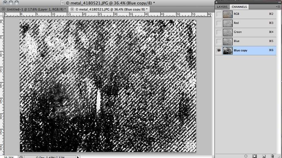 Тайловая металева текстура в Photoshop